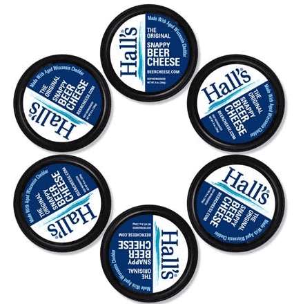 6-pack of Hall's Original Snappy Beer Cheese