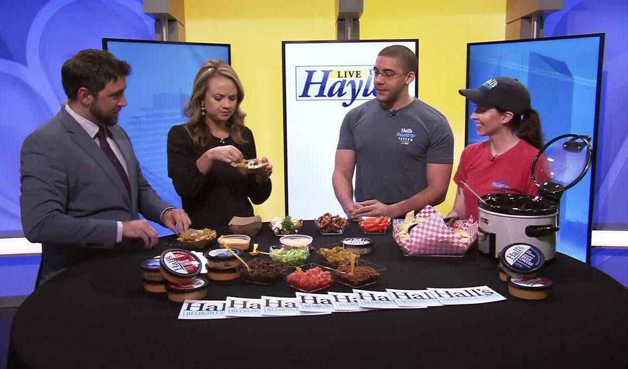 Hall's Beer Cheese Nachos featured on Lex18