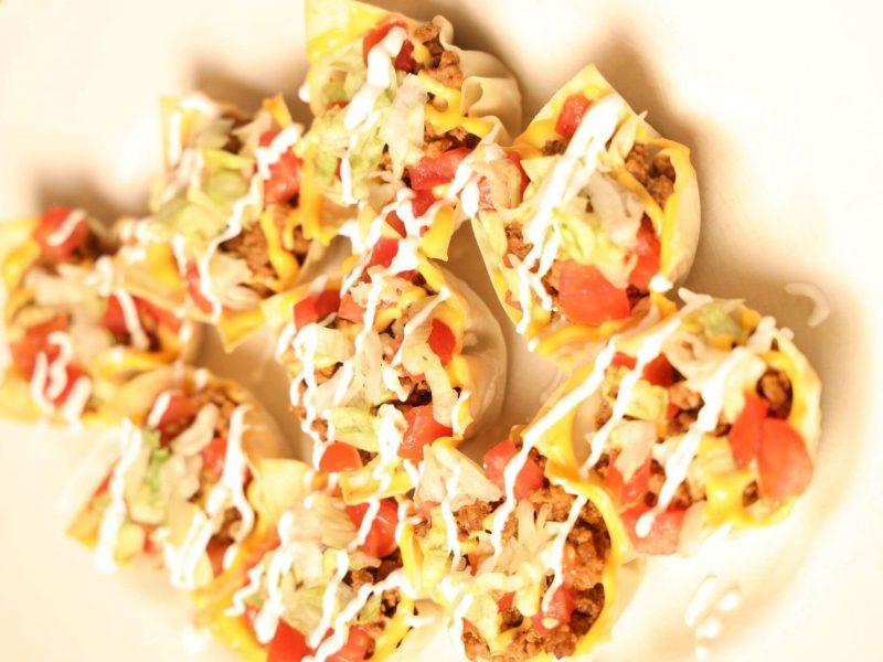 Beer Cheesy Taco Salad Cups